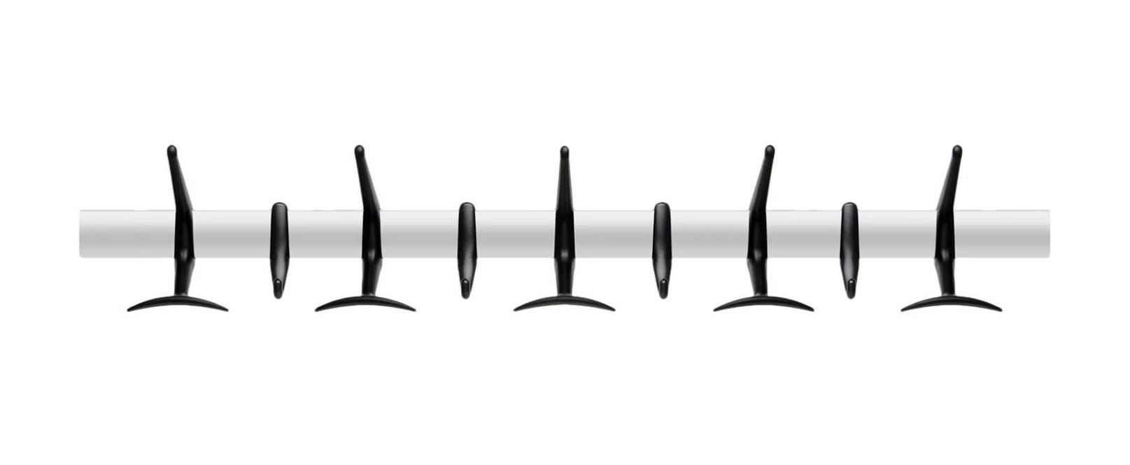 Hanger Wandgarderobe 90 cm, schwarz
