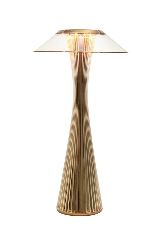Space Akku-Leuchte, gold