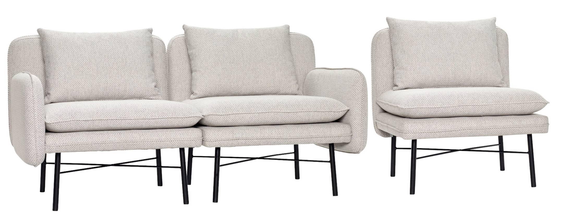 Hellgrau Sofa 3-Sitzer