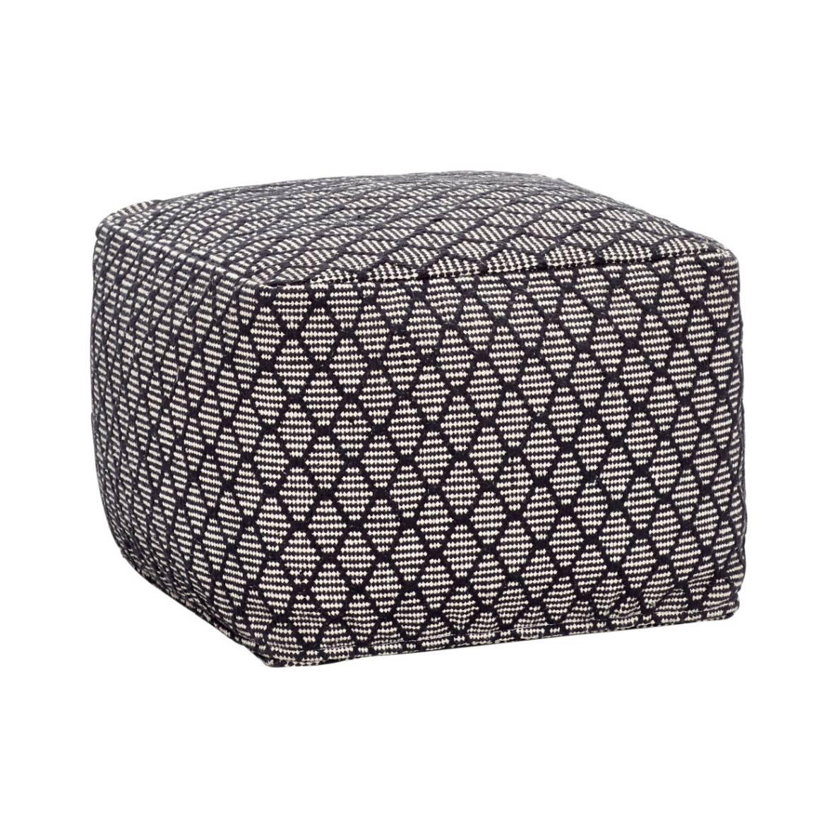 Hübsch Interior Schwarz Weiß Pouf Design Möbel
