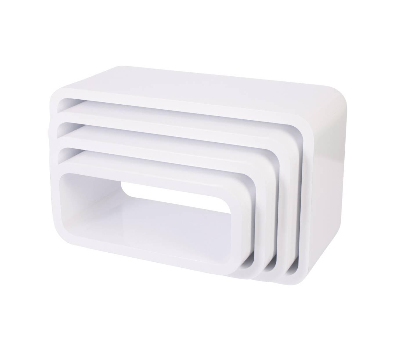 Sebra Cube Regal 4er-Set oval 4009305 Design Möbel