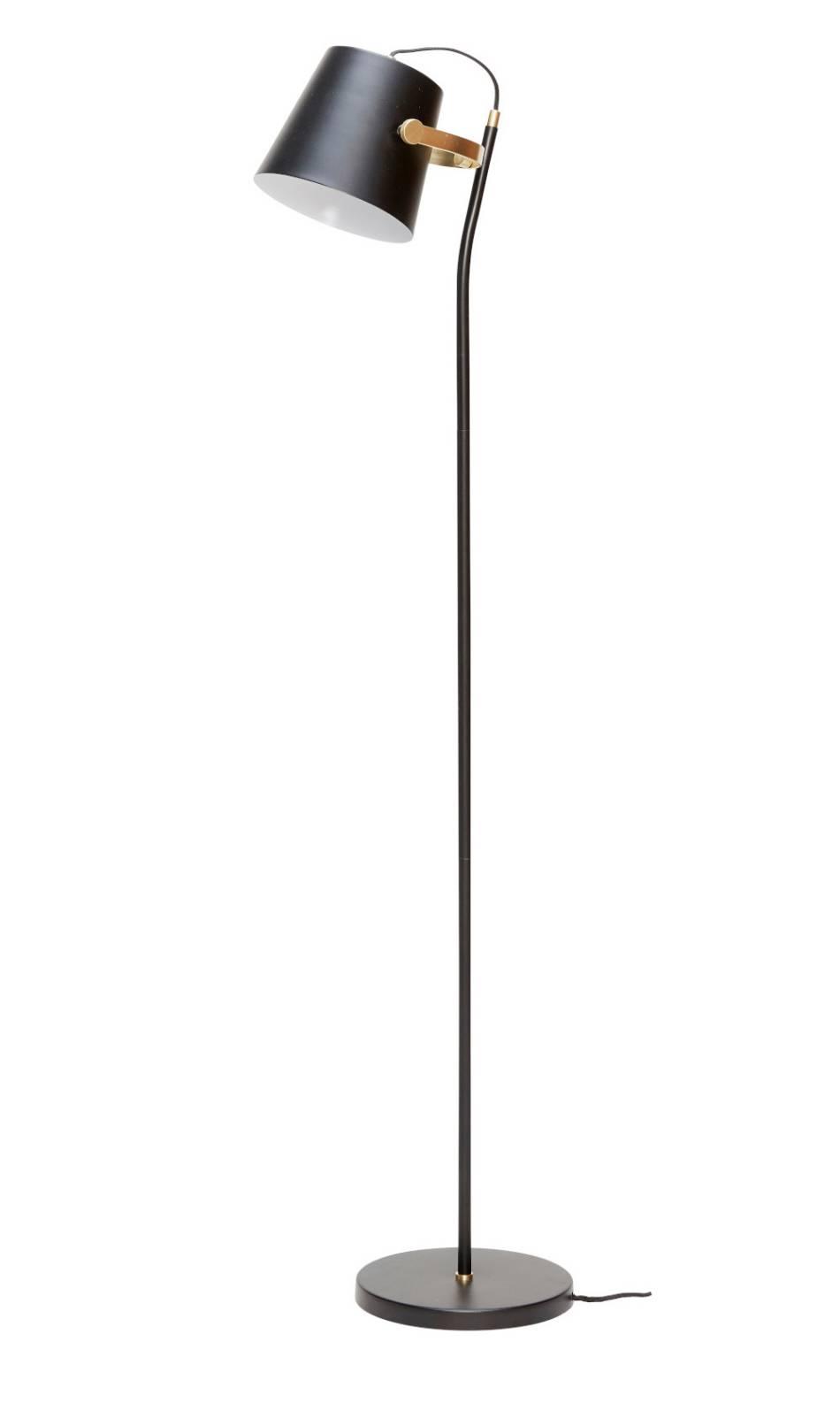 Hübsch Interior Messing / Schwarz Stehleuchte Design Möbel