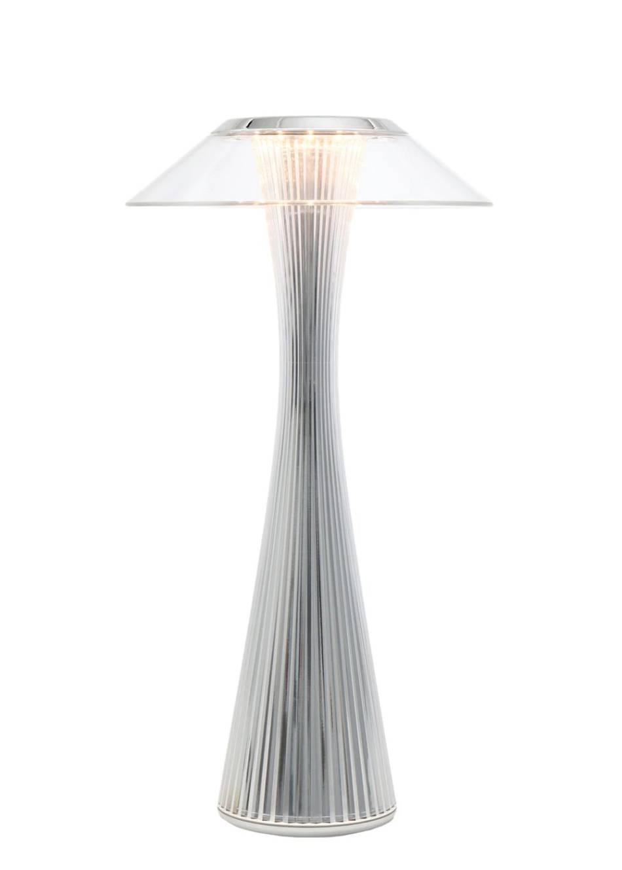 Space Akku-Leuchte, chrom