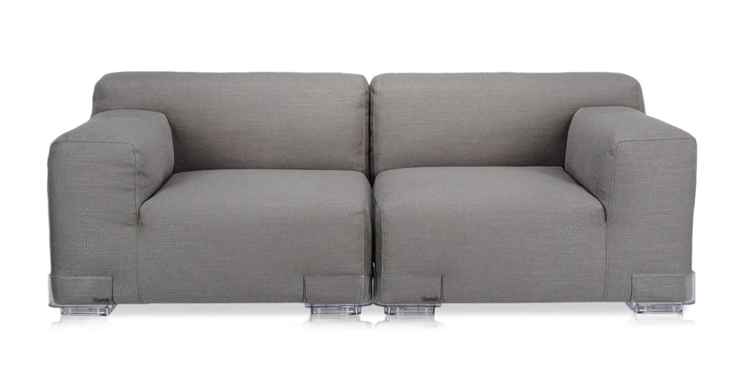 Plastics Dou Sofa 2-Sitzer, grau